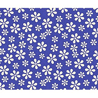 SheetWorld Fitted Oval Crib Sheet (Stokke Sleepi) - Primary Royal Floral Woven - Made In USA