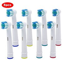 Ronsit 8 Pcs Replacement Brush Heads Compatible With Oral-B Electric Toothbrush Professional Care