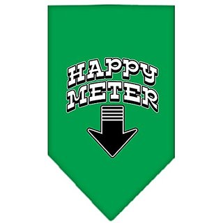 Mirage Pet Products Happy Meter Screen Print Bandana for Pets, Large, Emerald Green