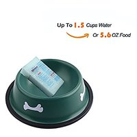 Premium Stainless Steel Dog Bowl With Rubber Base Rust Proof With Non-Skid Durable Food Bowl,Water Bowl For All Pets(Var