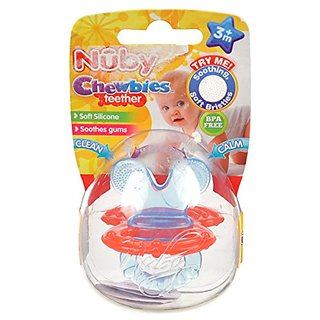 Nuby Chewbies Teether - Red, One Size