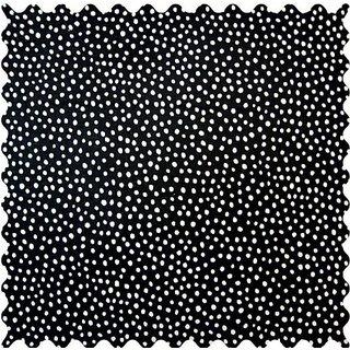 SheetWorld Black Fun Dots Fabric - By The Yard