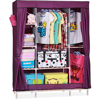 EI Stylish&Foldable Canvas Cupboard, Cabinet, Almirah, Wardrobe,Purple available at ShopClues for Rs.6699