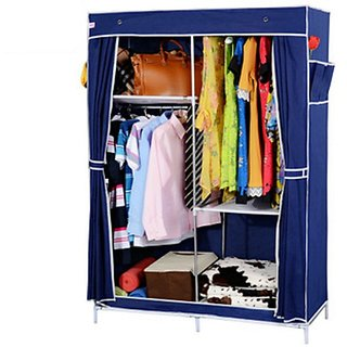 EI Stylish&Foldable Canvas Cupboard, Cabinet, Almirah, Wardrobe,DarkBlue available at ShopClues for Rs.4599