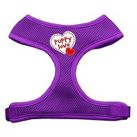 Mirage Pet Products Puppy Love Soft Mesh Dog Harnesses, Large, Purple