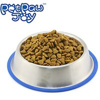PETPAWJOY Dogs Cats Pet Stainless Steel Bowl,Large