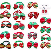 Yagopet 20pcs Christmas Small Dog Bow Ties Cat Dog Bowties Collar For Christmas Festival Dog Ties Dog Grooming Accessori