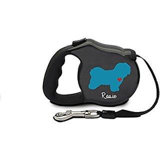 Avant Garde Havanese Retractable Dog Leash, Medium, Black