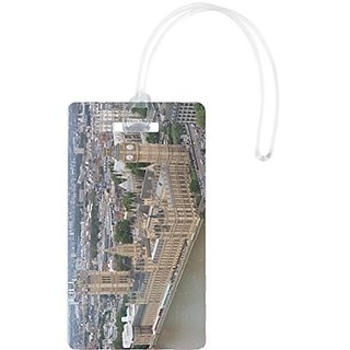 Rikki Knight Parliament and Big Ben In London UK Flexi Luggage Tags, White