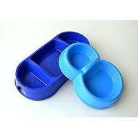 Dog Cat Food Bowls 2 In 1 And 3 In 1 Set Polished Plastic Feeder Small Medium Pets