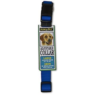 ASPEN PET PRODUCTS 20808 Nylon Adjustable Collar, 16 to 26-Inch, Blue