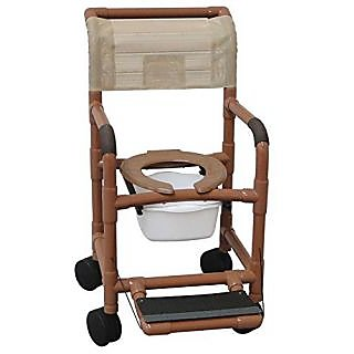 MJM International 122-5HD-SQ-PAIL-FF Wide Shower Chair with 5