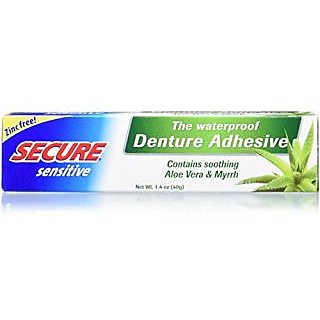 SECURE Denture Adhesive, Sensitive, 1.4 Ounce
