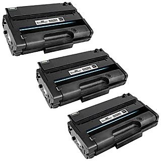 Speedy inks - 3 Pack Ricoh 406989 Remanufactured High-Yield Black Laser Toner Cartridge for use in SP 3500DN, SP 3500N,