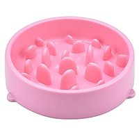 Carlie Silicone Slow Feed Dog Bowl - Interesting Training Feeder - The Weight Loss Pet Bowl To Slow Down Fast Eaters (Pi
