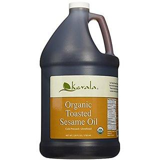 Organic Toasted Sesame Oil, Kevala, 1 Gallon
