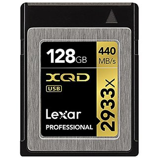 Lexar Professional 2933x 128GB XQD 2.0 Card (Up to 440MB/s Read) w/USB 3.0 Reader - LXQD128CRBNA2933BN
