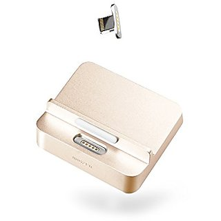 moizen Magnetic Charging Dock, SNAP Dock Set for iPhone 5, 5c, 5s, SE, 6, 6 Plus, 6s, 6s Plus (Gold)