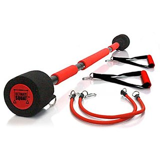 The Ultimate Squat - Strengthen your Lower Body with Resistance Bands - Fat Burner with No Weights - Portable Leg Workou