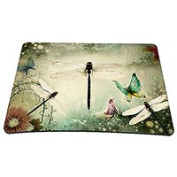 "Cool Dragonfly Print Big Size 14"" X 10"" Matching Anti-Slip Mouse Pad Mice Pad Mat Mousepad For Optical Laser Mouse FP-MP"