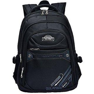 Fashion Backpack Kids Boys Girls Travel School Bag Waterproof Laptop Bag Satchel Backpacks (Black)
