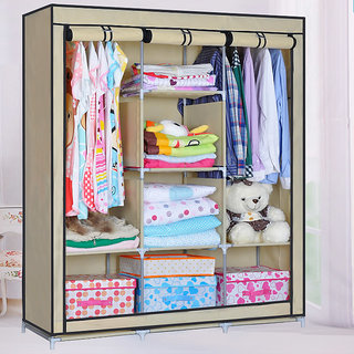 EI Stylish&Foldable Canvas Cupboard, Cabinet, Almirah, Wardrobe,Beige available at ShopClues for Rs.5999