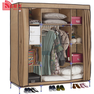 EI Stylish&Foldable Canvas Cupboard, Cabinet, Almirah, Wardrobe,Brown available at ShopClues for Rs.8799