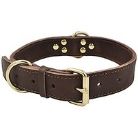 Leather Dog Collar,Techeer Heavy Duty Dog Collars For Medium And Large Dogs Brown