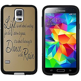 Galaxy S5 Case, Laser Technology for Protective Samsung Galaxy S5 Case Black DOO UC (TM) - Inspirational life Quote Life