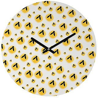 DENY Designs Allyson Johnson Round Clock, Firefly Pattern, 12