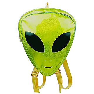 Zerlar Alien Kids Backpack PVC Hologram Backpack Clear Bag Purse Shoulder Bag (Green)