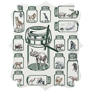 DENY Designs Belle13 Endangered Species Preservation Quatrefoil Clock, Small