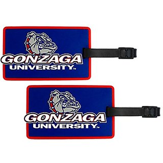 Gonzaga Bulldogs - NCAA Soft Luggage Bag Tag - Set of 2