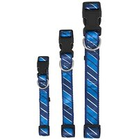 Aspen Pet 11461 Collar For Pets, 3/4 By 14 To 20-Inch, Stripe Blue