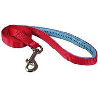 """Dog Leash 1/2"""" Wide Nylon 4ft Length With Padded Handle Red Small"""