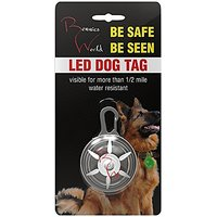 Bennies World LED Clip-On Pet Tags For Dog Collar, 2 Colors RED And WHITE Lights. #1 Bright Led Pendant Light For Walkin
