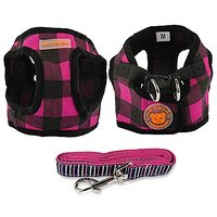 Didog No Pull Dog Vest Harness 4 Matching Leash Comb For Small Dogs - Made Of Soft Cotton -Fit For Pug Yorkies Small Med