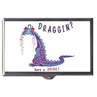 Dragon? Have A Drink! Retro Cocktail Napkin Decorative Pill Box