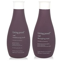 Living Proof Curl Conditioning Wash 11.5 Oz And Curl Detangling Rinse 12 Oz Combo Pack