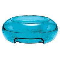 PetzPoint Rimz Klear Pet Food Bowl, Blue/Green And Purple