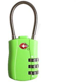 Travelsky 13324 TSA 3-dail luggage cable lock (green)