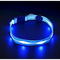 LED Dog Necklace Collar,Souldio™ Pets LED Safety Collar Flashing Dog Collar With Batteries Dog Night Lights,Super