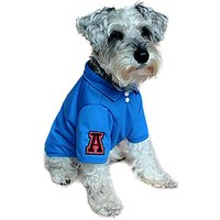 Alfie Pet By Petoga Couture - Fitch Solid Color Polo Shirt - Color: Blue, Size: Small
