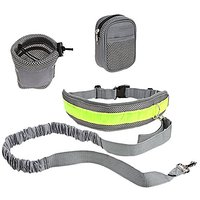 CyberDyer Hipster Waist Belt With Reflective Hands Free Dog Leash For Running Jogging
