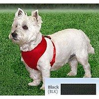 Coastal Pet Products DCP6313BLK Nylon Comfort Soft Adjustable Dog Harness, XX-Small, Black
