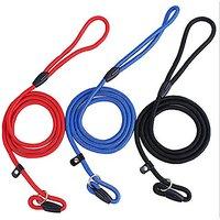 Fashion Shop Pet Dog Nylon Adjustable Loop Slip Leash Rope Lead 1.35m (L (1.0135CM), Black)