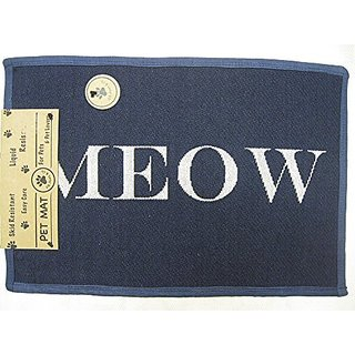 PB PAWS PET COLLECTION BY PARK B. SMITH Cats Meow Tapestry Indoor Outdoor Pet Mat, 13 x 19