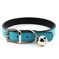 COCOPET Fashion Leather Pet Collars For Kitten Cats,baby Puppies Dogs (S, Blue)