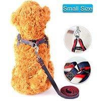 Lifepul(TM) Dog Leash Harness / Collar Set - Adjustable Heavy Duty Denim Harness Leash Set In Universal Size For All Dog