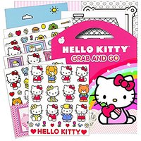 Hello Kitty Stickers Grab & Go Travel Activity Pack ~ Stickers, Play Scenes, Coloring Sheets, Plus Bonus Reward Sticker!
